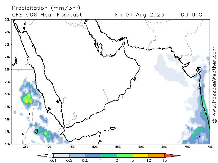 24  موقع ابو سعد للطقس / توقعات الامطار من موقع passageweather