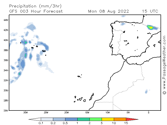 GFS Precipitation Rate (mm/3h)