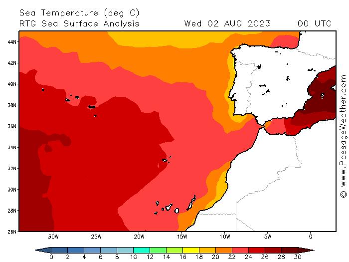 Meerestemperatur Nordatlantik