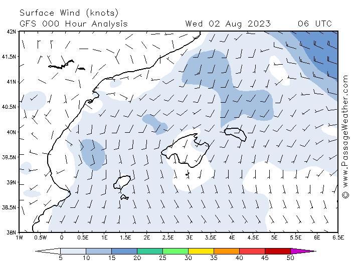 meteo marine iles Bal�ares vents