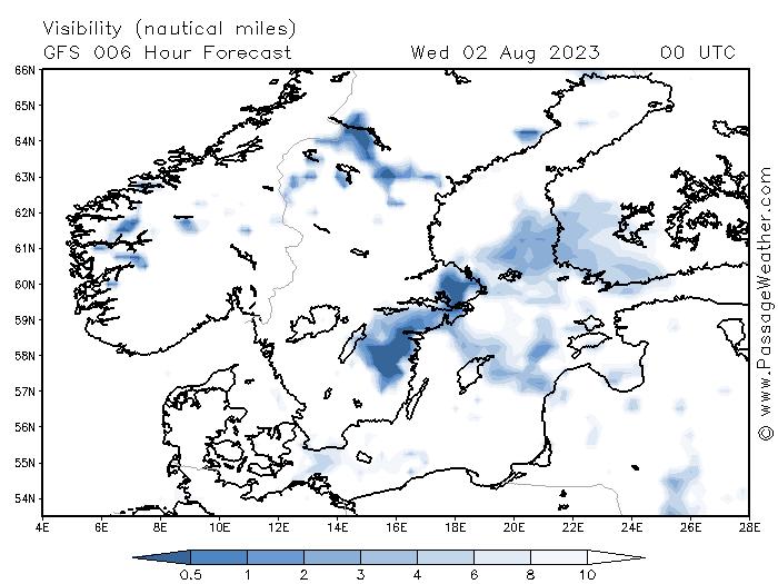 Zichtverwachting Oostzee