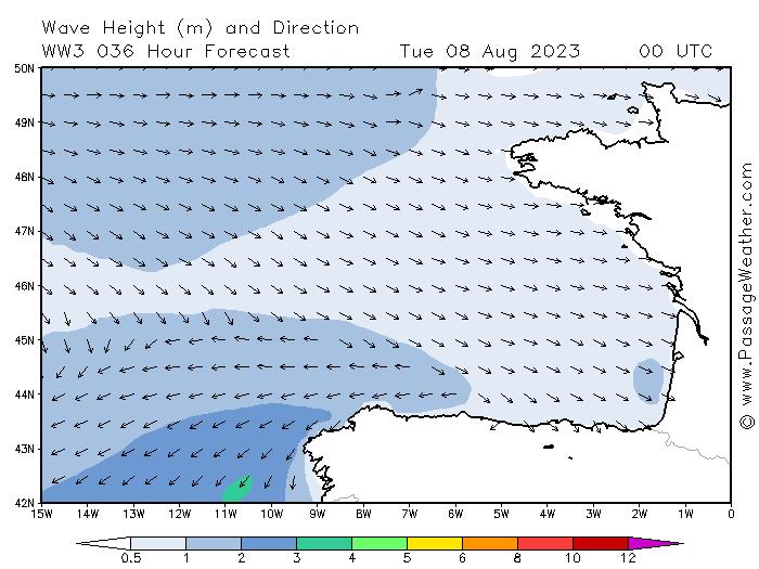 Hauteur des vagues