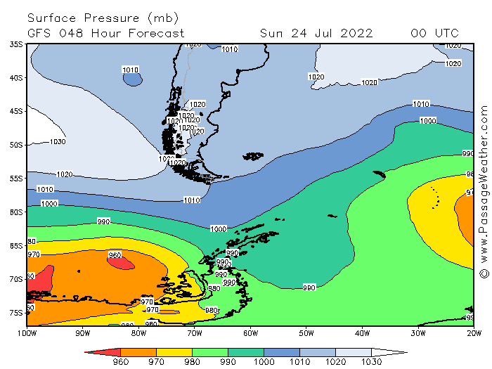Drake Passage Pressure Map