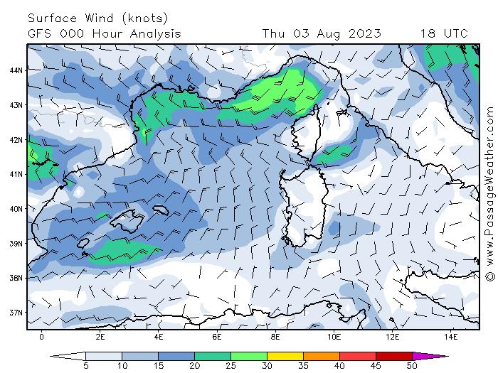 meteo marine mediterranee vents