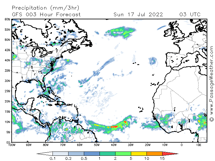 Niederschlagskarte Nordatlantik