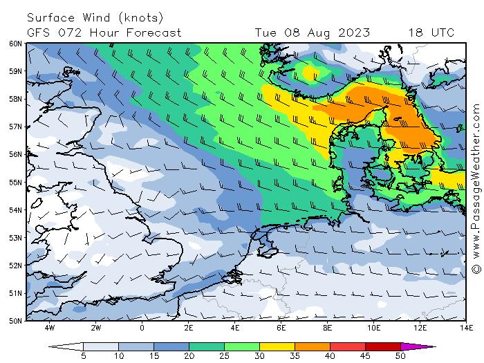Windverwachting Noordzee
