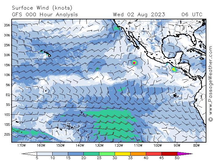 meteo vents pacifique sud