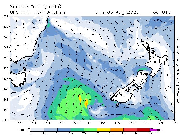 Prévisions de vent Australie Nouvelle Zélande